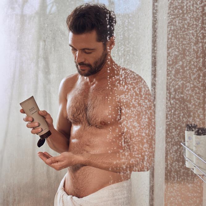AHAVA frissítő hidratáló tusfürdő férfiaknak